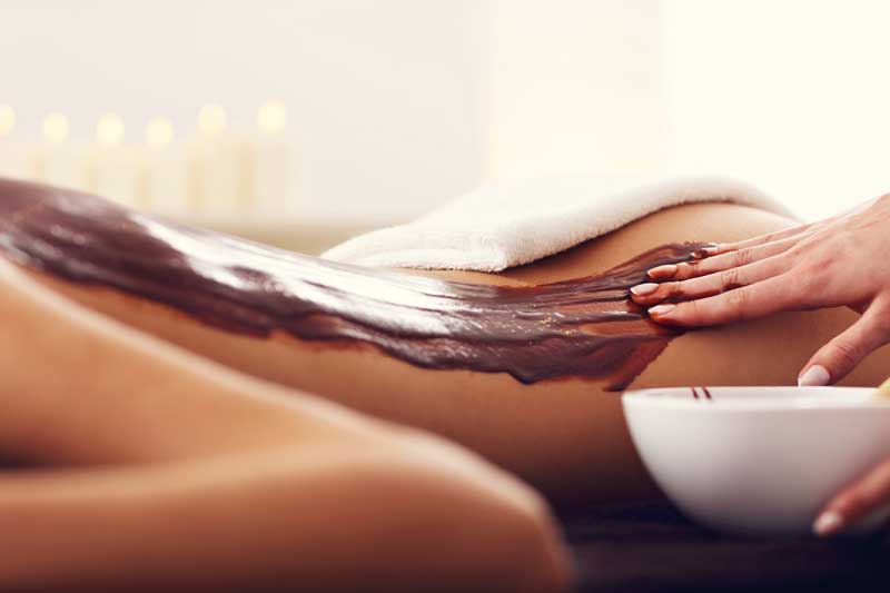 Hot chocolate therapy massage